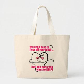 Funny Dental Hygienist Large Tote Bag