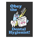 Funny Dental Hygienist Post Card