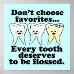Funny Dental Office Artwork Poster