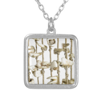 Funny Dental Photography Extracted Teeth Dentist Silver Plated Necklace