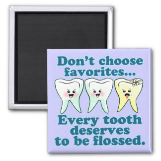 Funny Dentist 2 Inch Square Magnet