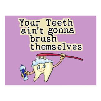 Funny Dentist and Dental Hygienist Post Card