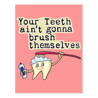 Funny Dentist and Dental Hygienist Postcard