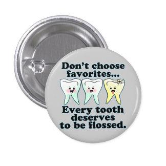 Funny Dentist Dental Hygienist 1 Inch Round Button