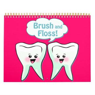 Funny Dentist Dental Hygienist Wall Calendars