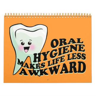 Funny Dentist Dental Hygienist Calendar