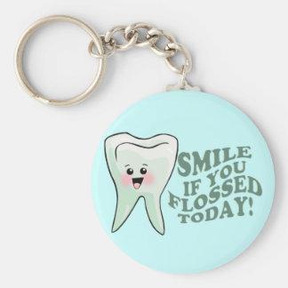 Funny Dentist Dental Hygienist Basic Round Button Keychain