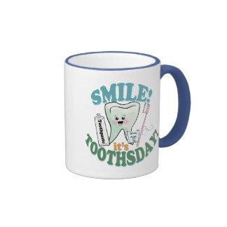 Funny Dentist Dental Hygienist Ringer Coffee Mug
