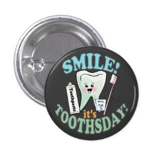 Funny Dentist Dental Hygienist Pinback Button