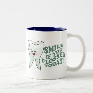 Funny Dentist Dental Hygienist Two-Tone Coffee Mug