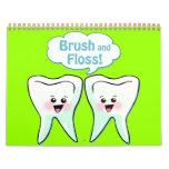 Funny Dentist Dental Hygienist Wall Calendar