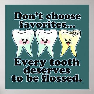 Funny Dentist Hygienist RDH Poster