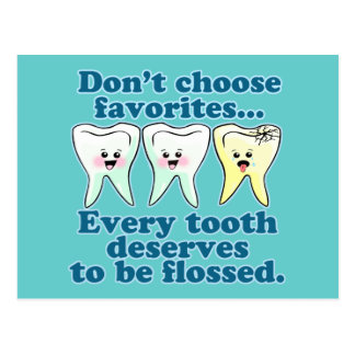 Funny Dentist Postcard