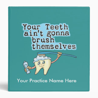 Funny Dentist s Office Appointment Book Vinyl Binders