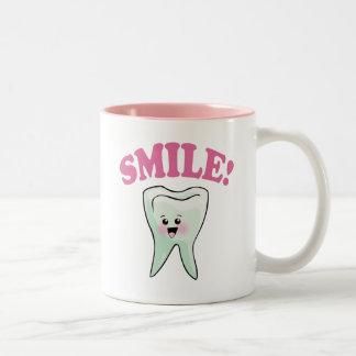 Funny Dentistry Two-Tone Coffee Mug