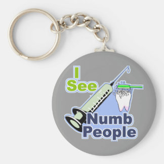 Funny Dentists and Hygienists Basic Round Button Keychain