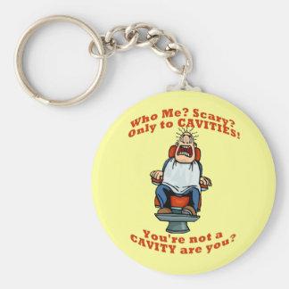 Funny dentists dental hygienists humor basic round button keychain