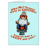 Funny dentists dental hygienists humor greeting card