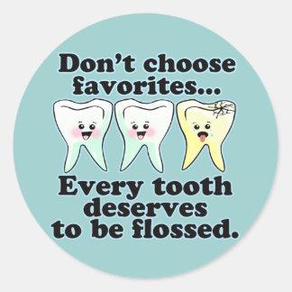 Funny Dentists Humor Round Sticker