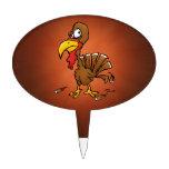 Funny Derp Turkey Cake Topper