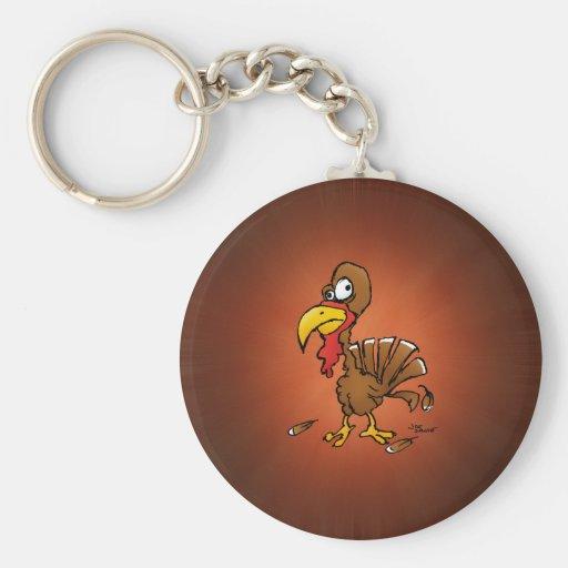 Funny Derp Turkey Cartoon Key Chains