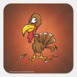 Funny Derp Turkey Cartoon Stickers