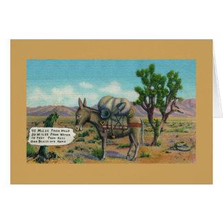 Funny Desert Life Greeting Card