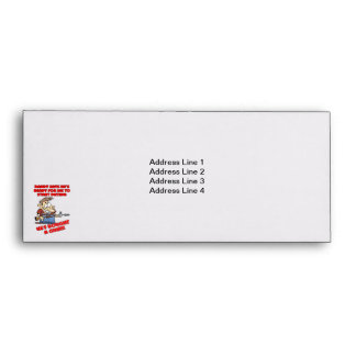Funny design for father with daughters. envelope