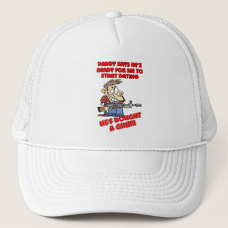 Funny design for father with daughters. trucker hat