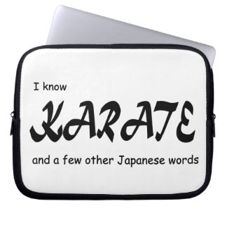 Funny Design. I know Karate + other Japanese Words Laptop Sleeve