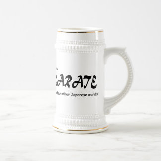 Funny Design. I know Karate + other Japanese Words 18 Oz Beer Stein