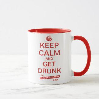 Funny Designated Driver Keep Calm Slogan Mug