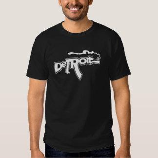 Funny Detroit Smoking Gun (AK version) Tee Shirt