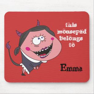 devil girl mouse pads zazzle