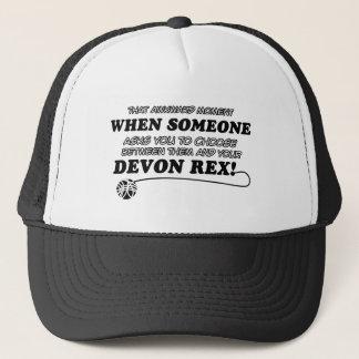 Funny DEVON REX designs Trucker Hat
