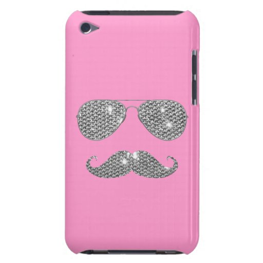 Funny Diamond Mustache With Glasses iPod Touch Covers