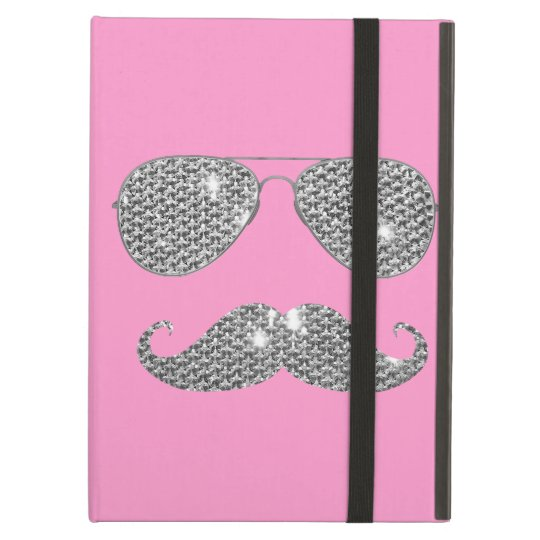 Funny Diamond Mustache With Glasses Case For iPad Air