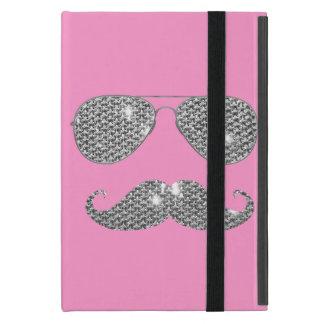 Funny Diamond Mustache With Glasses Covers For iPad Mini