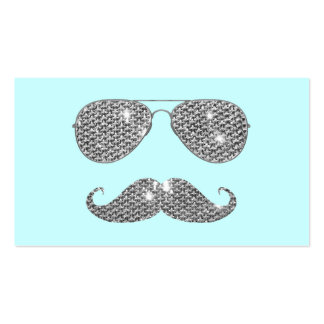 Funny Diamond Mustache With Glasses Double-Sided Standard Business Cards (Pack Of 100)