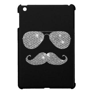 Funny Diamond Mustache With Glasses iPad Mini Cover