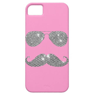 Funny Diamond Mustache With Glasses iPhone SE/5/5s Case