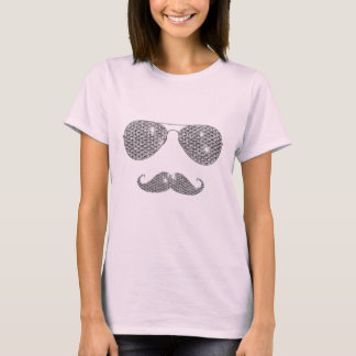 Funny Diamond Mustache With Glasses T-Shirt