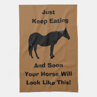 Funny Diet Horse American MoJo Kitchen Towels