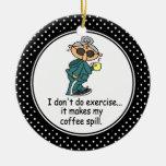 Funny Diet Humor Christmas Ornament