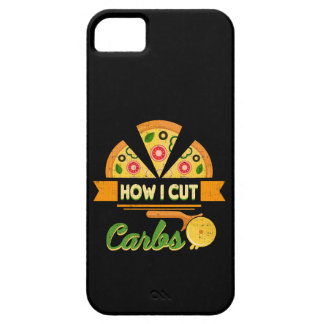 Funny Diet Humor - How I Cut Carbs - Pizza Novelty iPhone SE/5/5s Case