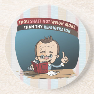 Funny Diet Losing Weight Beverage Coasters