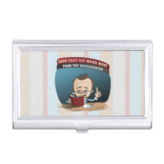 Funny Diet Losing Weight Business Card Holder