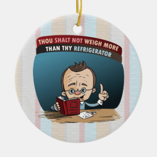 Funny Diet Losing Weight Ceramic Ornament