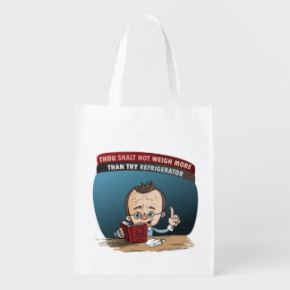 Funny Diet Losing Weight Reusable Grocery Bag