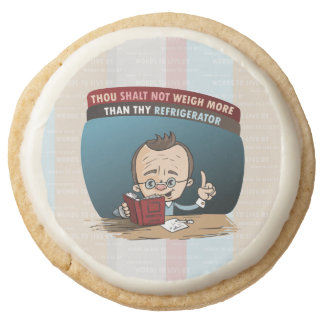 Funny Diet Losing Weight Round Shortbread Cookie